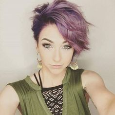 Make heads turn with a purple pixie!