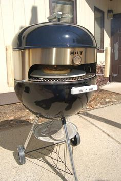 I want this! Pizza attachment for grill!