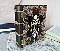vintage antique book box home decoration book cover Adisa Lisovac decoupage Book Libros, Gothic Books, Westerns, Altered Boxes, Vintage Box, Antique Books, Handmade Home Decor, Book Making, Vintage Antiques
