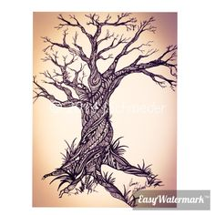Zentangle tree by J.Schroeder