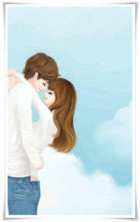 Love Cartoon Couple, Cute Love Cartoons, Anime Love Couple, Cute Anime Couples, Romantic Love Messages, Romantic Pictures, Love Pictures, Romantic Gifts, Lovely Girl Image