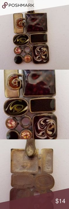 """Premier Designs Gallery Enhancer Premier Designs """"Gallery"""" Enhancer with magnetic closure so it will go on any necklace.  Beautiful autumn colors - matte brass In great used condition - measurement in photos Premier Designs Jewelry Necklaces"""