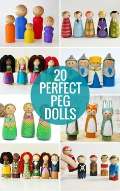 20 Perfect Peg Dolls - for all kind of pretend play!