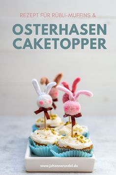 Leckere Rübli-Muffins & Do-It-Yourself Osterhasen-Caketopper Diy Ostern, Cereal, Cake Pop, Breakfast, Food, Jewelry Making, Easter Bunny, Craft Tutorials, Cake Pops