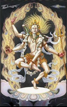 Lord shiva as nataraj in creative art painting