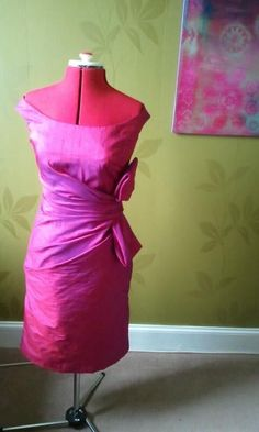 Dupion silk dress for sons wedding reception