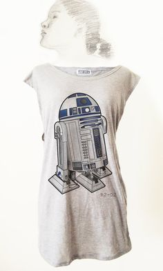 Classic Film Star Wars R2D2 Robot TShirt Tee Tank Top by Videofe, $8.00