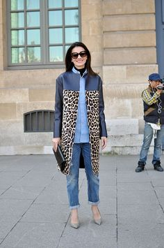 2013 STATEMENT COATS | ... coat winter trend denim print roadkill Street Style: Statement Coats