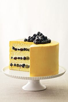 Wild Blueberry and Guanabana Bavarian Cream Layer Cake, from 'Bake It Like You Mean It' by Stewart Tabori & Chang. Photography by Tina Rupp.