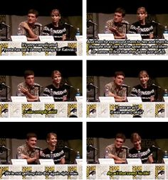Josh Hutcherson (Peeta) and Jennifer Lawrence (Katniss) explaining the Hunger Games