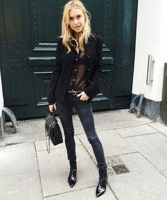 street fashion London // black on black