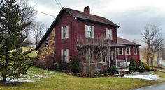 Saltbox w/ porch!   old farm houses - Bing Images