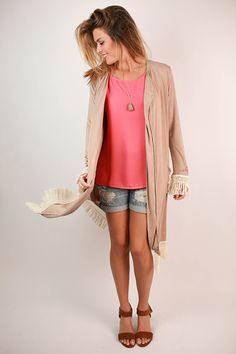 This extra long cardi is so pretty and soft!