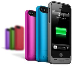 Mophie Juice Pack Helium. White or green, I think.  80% more battery for your phone.  Vital for those long NYC days.