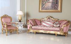 Taçlı ve taçsız seçenekleri ile istenilen renk ve ölçüde üretilebilen bu özel klasik koltuk takımı, altın varak uygulamaları ile mükemmel ve gözalıcı bir görünüme kavuştu. http://www.asortie.com/koltuk-35-Sehzade-Klasik-Koltuk-Takimi