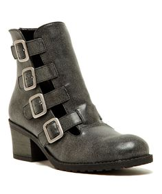 Look at this Black Buckle Pompeo Ankle Boot on #zulily today!