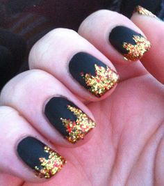 Stunning, if I were to do any of the hunger game nails that have been posted, it would be these
