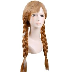 Generic Cosplay Costume Wig for Disney Princess Frozen Snow Queen Anna Long Brown