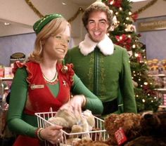 Day 18, ‪#‎tbt‬ To when ‪#‎EllenDeGeneres‬ and I were Buddy and Jovie in my favorite Christmas movie, Elf! ‪#‎share‬ ‪#‎25daysofEllen‬