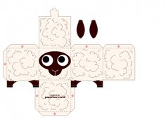 sheep paper toy