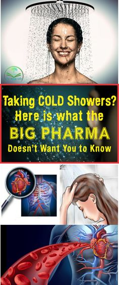 Taking Cold Showers? Here is what the Big Pharma Doesn't Want You to Know #benefits  #health #showers #coldwater #didyouknow