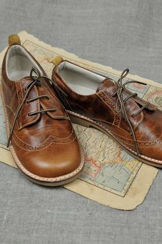 oxford lace up; boys need new dress shoes.