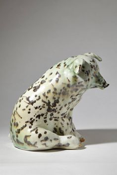 Piggy Bank Designed by Michael Schilkin, Finland, 1950s | From a unique collection of antique and modern ceramics at https://www.1stdibs.com/furniture/dining-entertaining/ceramics/