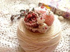 Купить Яблонев цвет - розовый, бежевый, яблоня в цвету, брошь, брошь цветок