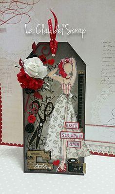 Prima doll sewing tag Tag de costura prima doll Jullie Nutting