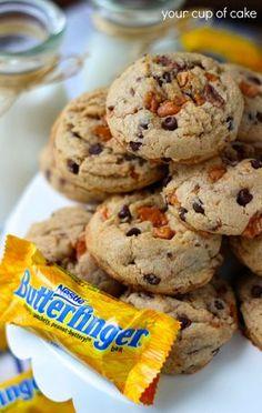 Butterfinger Cookies- @Hannah Mestel Mestel Kendrick I told you I'd do it!