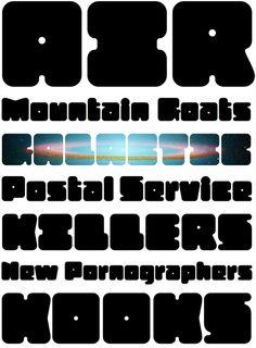 Zaftig font designed by James Grieshaber of Typeco.