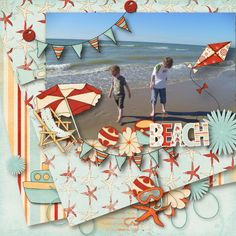 """""""Beach day"""" de Joey https://www.myscrapartdigital.com/shop/joey-c-24_48/beach-day-mini-kit-p-5129.html http://thescrapnerds.com/index.php?main_page=product_info&cPath=1_96&products_id=472 template """"Southern Serenity"""""""