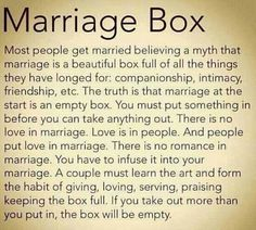 One of the best descriptions of marriage I've read.