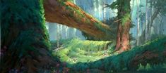 """Brother Bear"" concept art and background paintings by Xiangyuan Jie"