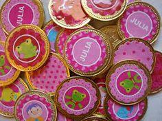Resultado de imagen para monedas de chocolate personalizadas