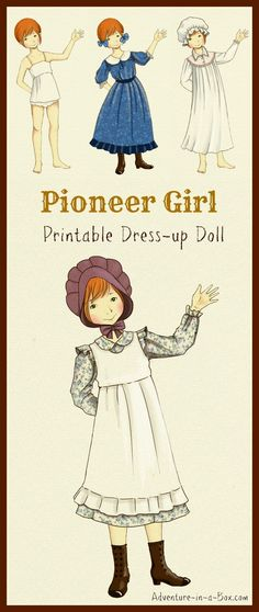 Pioneer girl paper doll dress up