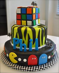 80s Cake~ Bek, a giant rubic cube bday   cake would be memorable!