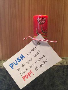 Dance Team good luck gift - Push Pops MicheleGreen.com