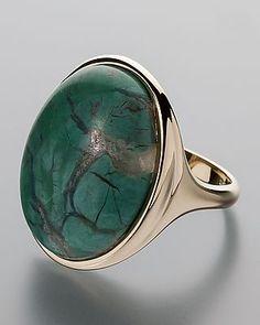Aparter Ring mit Arizona Green Wood - Das Gedächtnis der Erde - versteinertes Holz aus Winslow, Arizona, USA #schmuck #jewellery #sognidoro #sogni #d´oro #ring