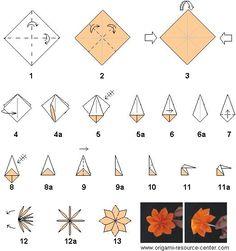 Origami Flower - Lily Iris - Folding Instructions