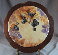 Hand Painted Blackberries on Porcelain Trivet. $30.00, via Etsy.