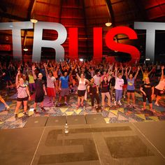 """When you hear me say TRUST, it's more than a word—it's a commitment...a belief that each of us instills in ourselves. We build it. We earn it. We give it. It defines who we are. You will either RISE to its promise or FALL to its power. What is """"TRUST"""" to you?"""