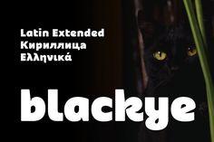 Blackye | Latin, Greek & Cyrillic by Genilson Santos on @creativemarket
