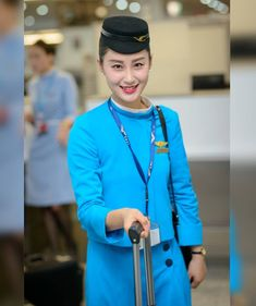【China】 Xiamen Airlines cabin crew / 厦門航空 客室乗務員 【中国】 Airline Uniforms, Xiamen, Flight Attendant, Captain Hat