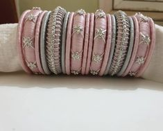 100 Latest Collection of Silk Thread Bangles With Images - Buy lehenga choli online Silk Thread Bangles Design, Silk Bangles, Silk Thread Earrings, Bridal Bangles, Thread Jewellery, Bridal Jewelry, Handmade Jewellery, Bridal Accessories, Fashion Accessories