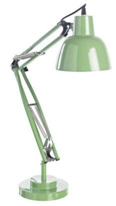 Isaac Green Large Tall Desk Lamp, 5052931037490