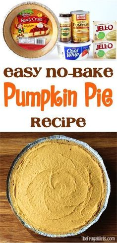 Best No Bake Pumpkin Pie Recipe! ~ at http://TheFrugalGirls.com ~ this decadent and ridiculously delicious dessert is so EASY and the perfect addition to your Fall parties and Thanksgiving desserts!  #pies #recipes #thefrugalgirls