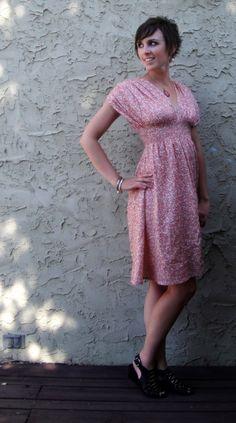 Free grecian dress pattern, short and long versions