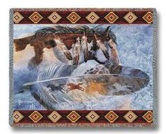 Horsefeathers Southwestern Tapestry Throw Blanket