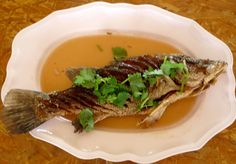 Thai Food | Whole fried fish. Or is it steamed? I can't tell from the pic and I ...